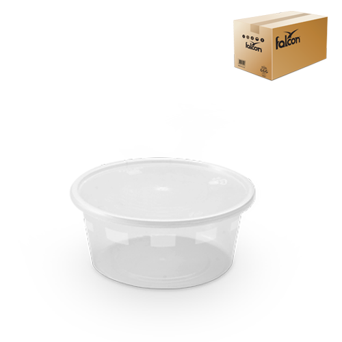 Round Microwave Container W Lid 450 Cc 1 Carton X 500 Pieces