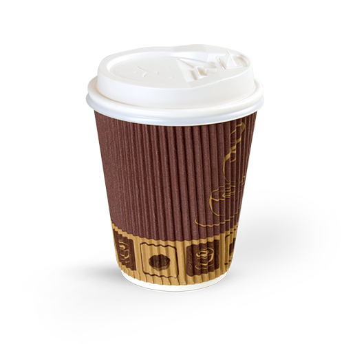 Ripple Paper Cup 8 Oz With Lid 50 Pieces Falcon Pack Online